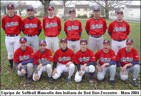 Softball Masculin - saison 2003