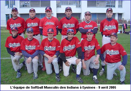 Softball Masculin - saison 2005